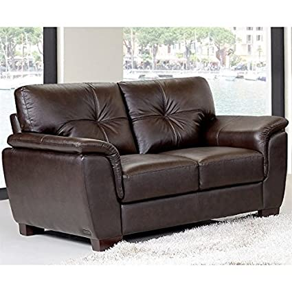 Amazing Amazon Com Abbyson Timston Leather Loveseat In Brown Andrewgaddart Wooden Chair Designs For Living Room Andrewgaddartcom