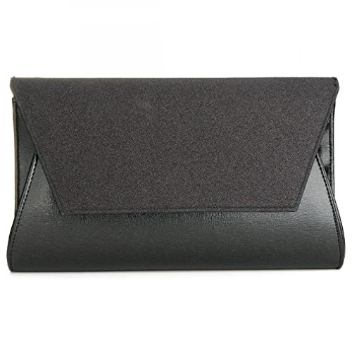 Women Party Lady's Crossbody Female Leather Bag Gold Handbag Evening Bags Bag Clutch Bag Black PU gw48gBrtxn