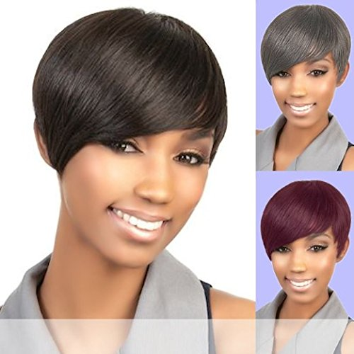 Human Hair Wig H. Volta By Motown Tress Color 1B(Off Black) ()