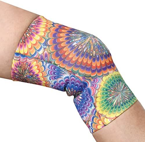 Women's Mild Support Compression Knee Brace in Fun Print - Regular - Tie Dye