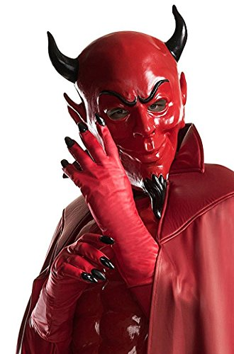 Devil Costume Makeup Male (Rubie's Costume Co. Men's Scream Queens Red Devil Gloves, As Shown, One Size)