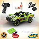 Remote Control Car - Mini Racing Coupe with Rechargeable Battery and Wall Charger