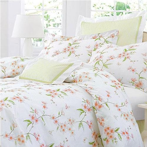 Charisma Cherry Blossom White Multi Queen Duvet Cover ()