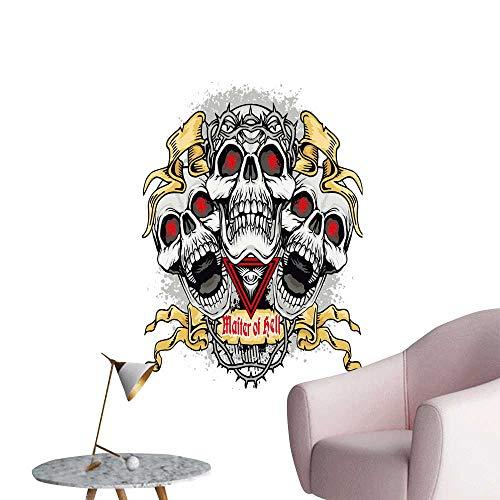 SeptSonne Wall Decals gothi Coat rms Skull ws Grunge Vintage Design t Shirts Environmental Protection Vinyl,24