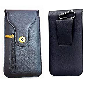 Realtech Chain Lock Leather Double Mobile Pouch Belt Clip Cases with Card Holder and Money Pocket Case for vivo X60 Pro…