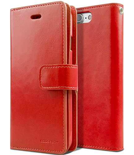 iPhone 7 PLUS Wallet Case, [Maximized Slots for Card & Cash] MERCURY Mansoor Diary [Anti-Slip Finish] PU Leather w/ TPU Casing [Drop Protection] Cover for Apple iPhone 7 PLUS (5.5