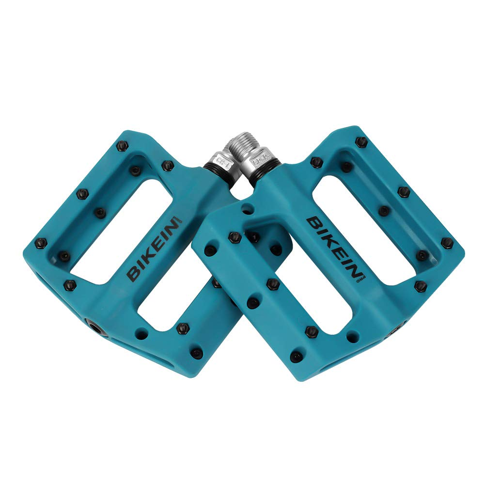 BIKEIN PRO Mountain Bike Pedals Platform Flat Pedal Sealed Bearing 9//16 Nylon Pedals