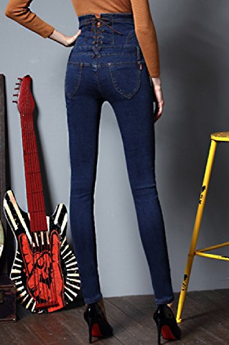 Blu Fit Classico Jeans Vita Donne Le Per Taglia Alla Slim pvzpFqY