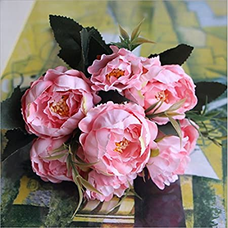 Silk flowers faux peony 1 bouquet european pretty wedding mini silk flowers faux peony 1 bouquet european pretty wedding mini peony artificial silk flower bouquet mightylinksfo