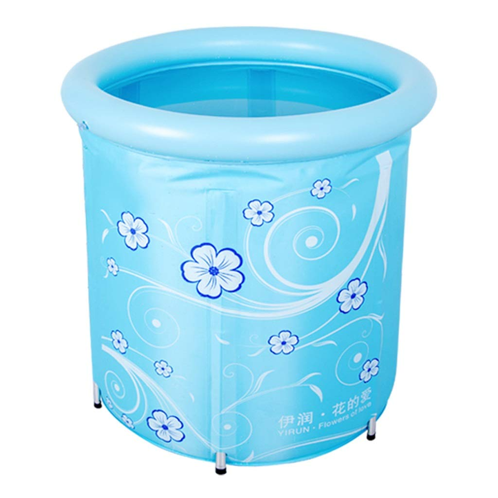 Inflatable bathtub ZHAOSHUNLI Swimming Pool Baby Bracket Swimming Pool Baby Toddler Small Insulation Swimming Bucket (Color : Blue)