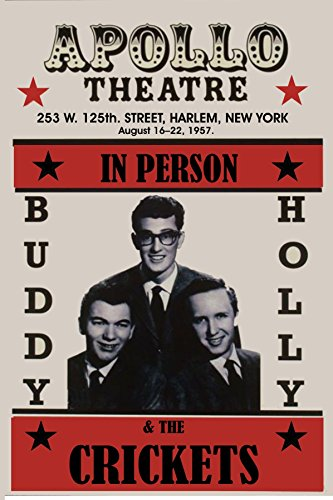 - Gatsbe Exchange Buddy Holly Dead Musician Concert Poster Rock and Roll Legends Live Forever 12 X 18