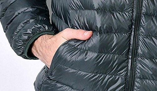 Zip Del Cappotto Uniti Xl Giù Puffer Degli up Stati Uomini Di Eku Esterno Armygreen Packable Rivestimento YOXwBYrq6