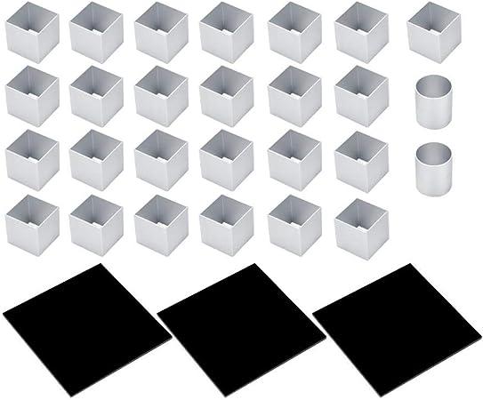 Moule De Gâteau De Cube En Métal 3d Trois Couches De