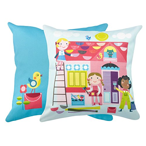 Room to Believe, Kids, Pure Cotton, Decorative Throw Pillow Case Cushion Cover, Without Insert, 16x16 Inches, Sky Blue