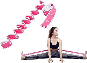 KRUIHAN 2 Pi/èces Filles Danse Latine R/ésistance Bandes-Pilates Yoga /Élastique Ceinture Stretching Ballet Ceinture Stretch Exercice Corde Tirez Sangle pour Fitness Sport Entra/înement De Gymnastique