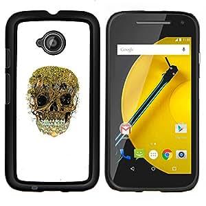 """Be-Star Único Patrón Plástico Duro Fundas Cover Cubre Hard Case Cover Para Motorola Moto E2 / E(2nd gen)( Cráneo árboles forestales naturaleza profunda Blanca"""" )"""