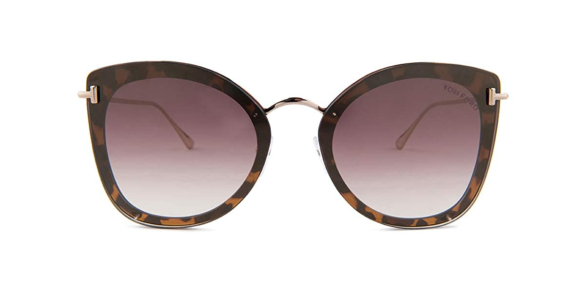 7dd487de4e0eb Tom Ford CHARLOTTE FT 0657 DARK HAVANA BROWN SHADED 62 15 145 unisex  Sunglasses at Amazon Men s Clothing store