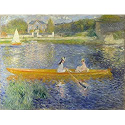 Oil Painting 'Pierre Auguste Renoir The Skiff (La Yole) ' Printing On High Quality Polyster Canvas , 24 X 32 Inch / 61 X 80 Cm ,the Best Dining Room Decor And Home Gallery Art And Gifts Is This High Definition Art Decorative Canvas Prints