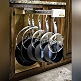 Glideware Wood Pull-out Cabinet Organizer for Pots Pans and Much More