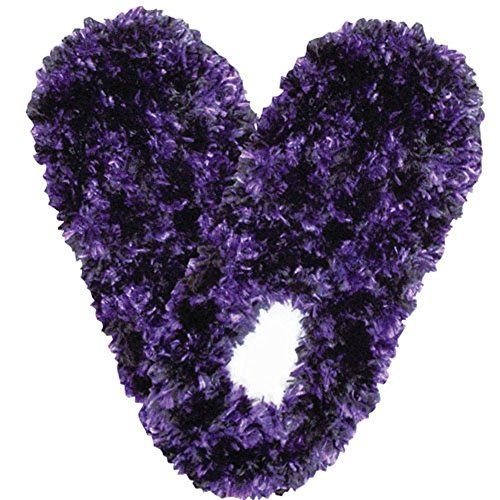 Black Soft and Fuzzy Footies Super Resistant Slippers Purple with Bottom Slip qEvSB7a