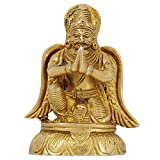 Holy Birds Figurines Mount Of The Lord Vishnu Garuda Statues Brass Metal Art Home Décor 3.75 Inches