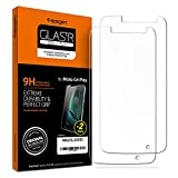 Moto G4 Play Screen Protector, Spigen® [2 Pack] [Tempered Glass] Motorola Moto G4 Play Glass Screen Protector [Easy-Install Wing] [Lifetime Warranty] - 2 Pack