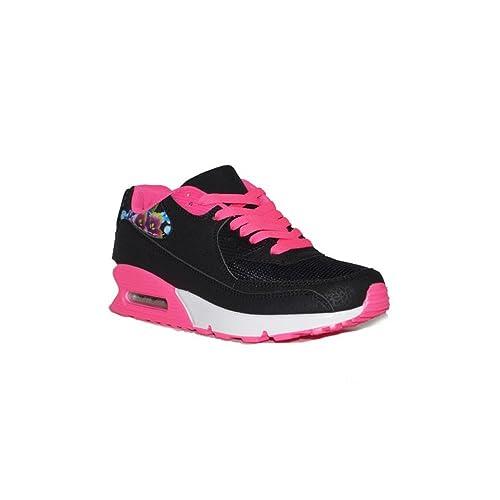 JOMIX - JOMIX Airmax Mujer D707-10A Zapatillas Deportivas de Mujer Negras/Rosa Casuales Bajas Baratas: Amazon.es: Zapatos y complementos