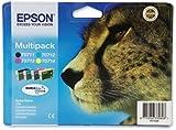 Epson T0715 Inkjet Cartridge DURABrite Cheetah Cyan/Magenta/Yellow/Black Ref C13T07154010 [Pack 4]