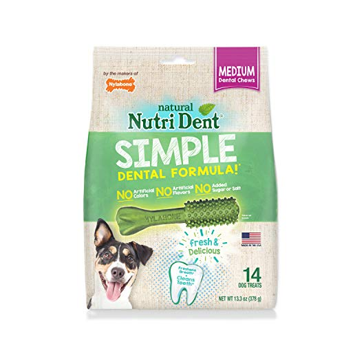 Nylabone Nutri Dent Limited Ingredient Dental Dog Chews, Medium (Up to 30 Lbs), 14 Ct