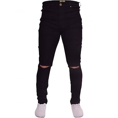 54e87e593c8 Island Trading Mens Ripped Slit Knee Skinny Stretch Fit Jeans Distressed  Men s Denim Waist 28 Leg