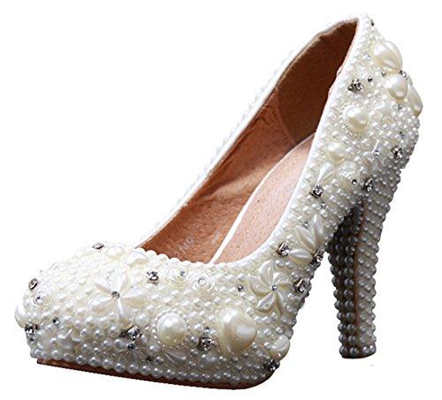 Sandalias Mujer Miyoopark 12cm Ivory Con Heel Cuña 4P4nOfq