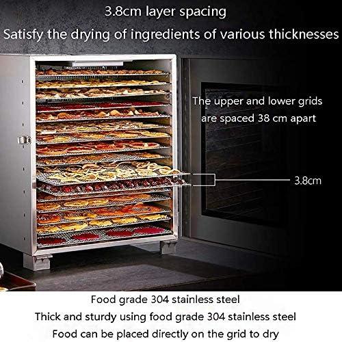 Droger-elektrisch digitaal digitaal scherm instelbaar temperatuurpunt stil 16 lagen roestvrij stalen container droge voedselmachine gedehydrateerd voedsel voor commerciële 1200W kFXkIxpI
