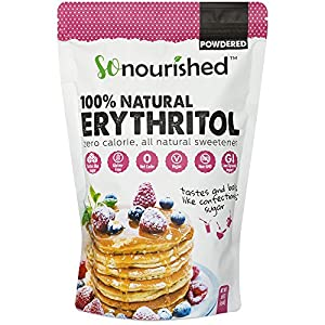 Powdered Erythritol Sweetener (1 lb / 16 oz) - FREE 10 Keto Desserts PDF - Confectioners - No Calorie Sweetener, Non-GMO, Natural Sugar Substitute
