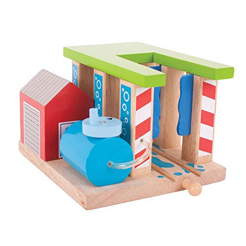 (Bigjigs Rail Wooden Train Washer - Other Major Wooden Rail Brands are Compatible)