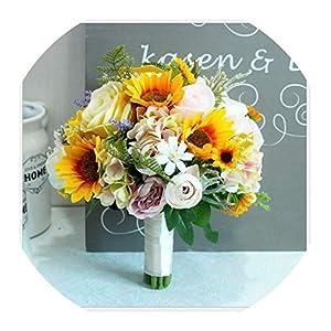Wedding Bouquet Bride Holding Flowers Wedding Flower Sunflower Studio Props Wedding Bouquet,01 14
