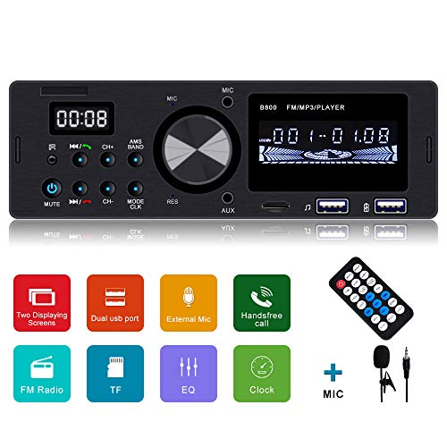 Car Stereo wtih Bluetooth Single din car Stereo car Radio car MP3 Player SD/AUX/Dual USB Ports Support FM Radio with Wireless Remote Control