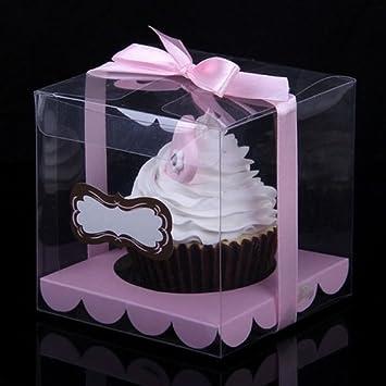 12Pcs Tortenbox Kuchenschachtel 9X9X9Cm Transparent Kuchen Box Mit