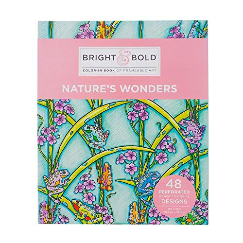 Craft County Bright and Bold Frameable Art Coloring Books for Adults - 48 Pages of Designs - Perforated Stock Paper (Nature's Wonders) ()