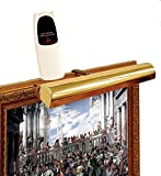 """Cordless Remote Control LED Picture Shiny Polished Brass Finish, Compact 11 ½"""" Wide"""