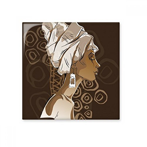 African Black Women Aboriginal Headdress Art Ceramic Bisque Tiles Bathroom Decor Kitchen Ceramic Tiles Wall Tiles