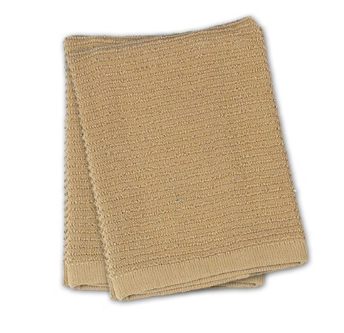 (Kay Dee Designs Ribbed Terry Dishcloths, Cotton, 2-Piece Set, 13-Inch by 13-Inch, Taupe)