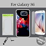 3in1 vape - Colorful Vape Smoke Custom Galaxy S6 Cases-White-Rubber,Bundle 3in1 Comes with HD Tempered Glass/Universal Stylus Pen by innosub