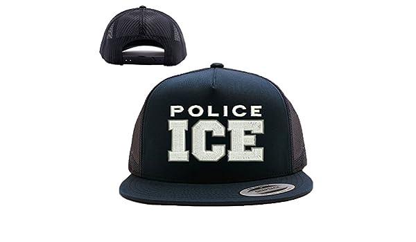 S. Immigration and Customs Enforcement MESH TRUCKER SNAP CLOSURE CAP HAT   Clothing 702bdd017ac1
