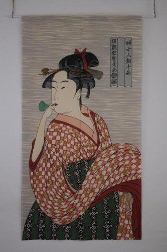 Made in Japan Noren Curtain Tapestry Ukiyoe Bidoro