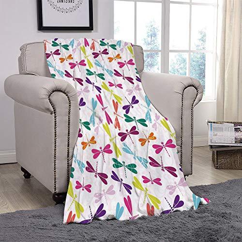 4540e45c72 YOLIYANA Light Weight Fleece Throw Blanket/Dragonfly,Kids Nursery Childhood  Playroom Birthday Bunch of