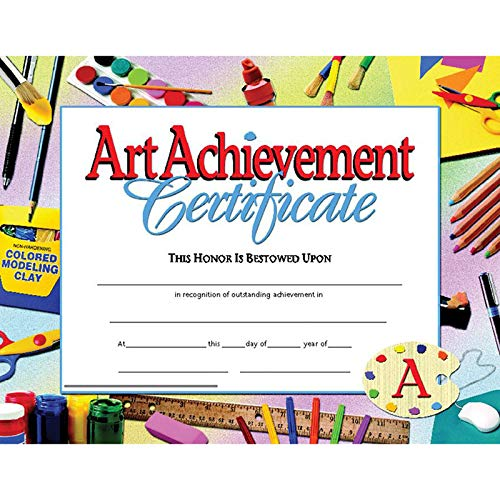 Hayes Certificates - Hayes Art Achievement Certificate Style B, 11 x 8-1/2 inches, Pack of 30