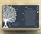 9.5 X 12 Metal Prints - 2 Piece Set - Personalized 10 Year Anniversary Tin Wedding Tree Poem Ten Year 1st First 2nd 10th Gift For Couple Husband Wife Custom Art Print
