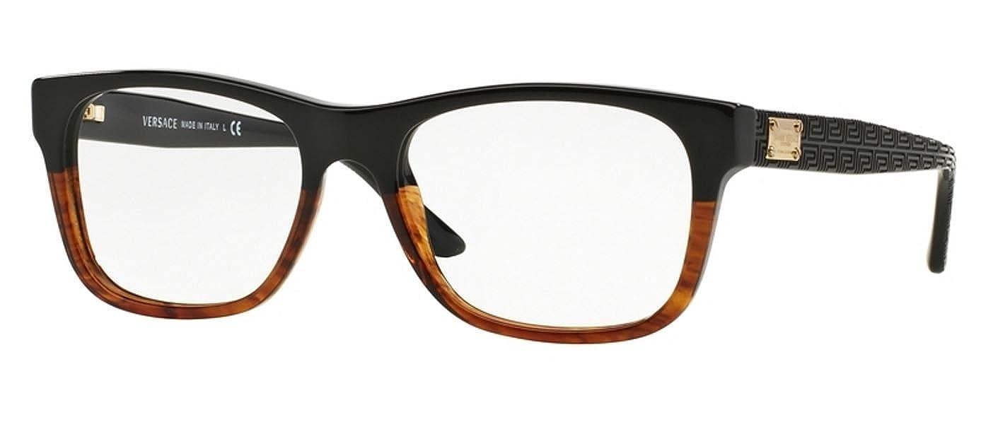 6108d944d38 VERSACE VE 3199 Eyeglasses 5118 Blue Havana 53-17-140  Amazon.co.uk   Clothing