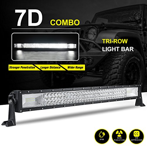 Autosaver88 7d led tri row light bar 24 curved off road driving fog autosaver88 7d led tri row light bar 24 aloadofball Images