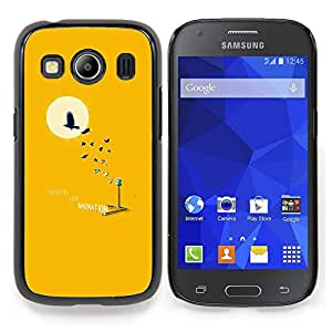 Stuss Case / Funda Carcasa protectora - Pájaro Árbol minimalista Luna Sol - Samsung Galaxy Ace Style LTE/ G357